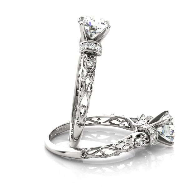 Diamond Antique Style Engagement Ring