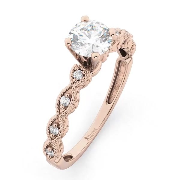 7f9a1c437 Petite Marquise Diamond Engagement Ring 14k Rose Gold (0.10ct). 8%.  Interactive Video – Drag To Rotate